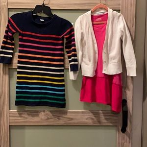 BUNDLE 💫 2 Toddler Girl Dresses, one cardigan